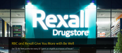 RBC credit card holders can now earn extra Be Well points for shopping at Rexall